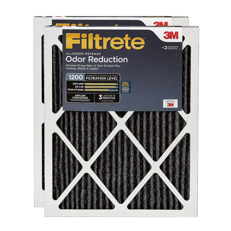 Filtrete 20x25x1, AC Furnace Air Filter, MPR 1200, Allergen Defense Odor Reduction, 2-Pack (Renewed)