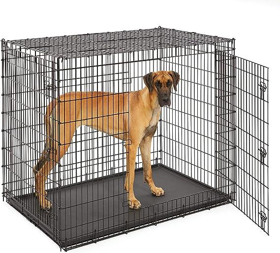 "XXL Dog Kennel 54/"" x 35/"" x 45/"" Single Door Pet Crate Kennel Midwest Huge Travel"