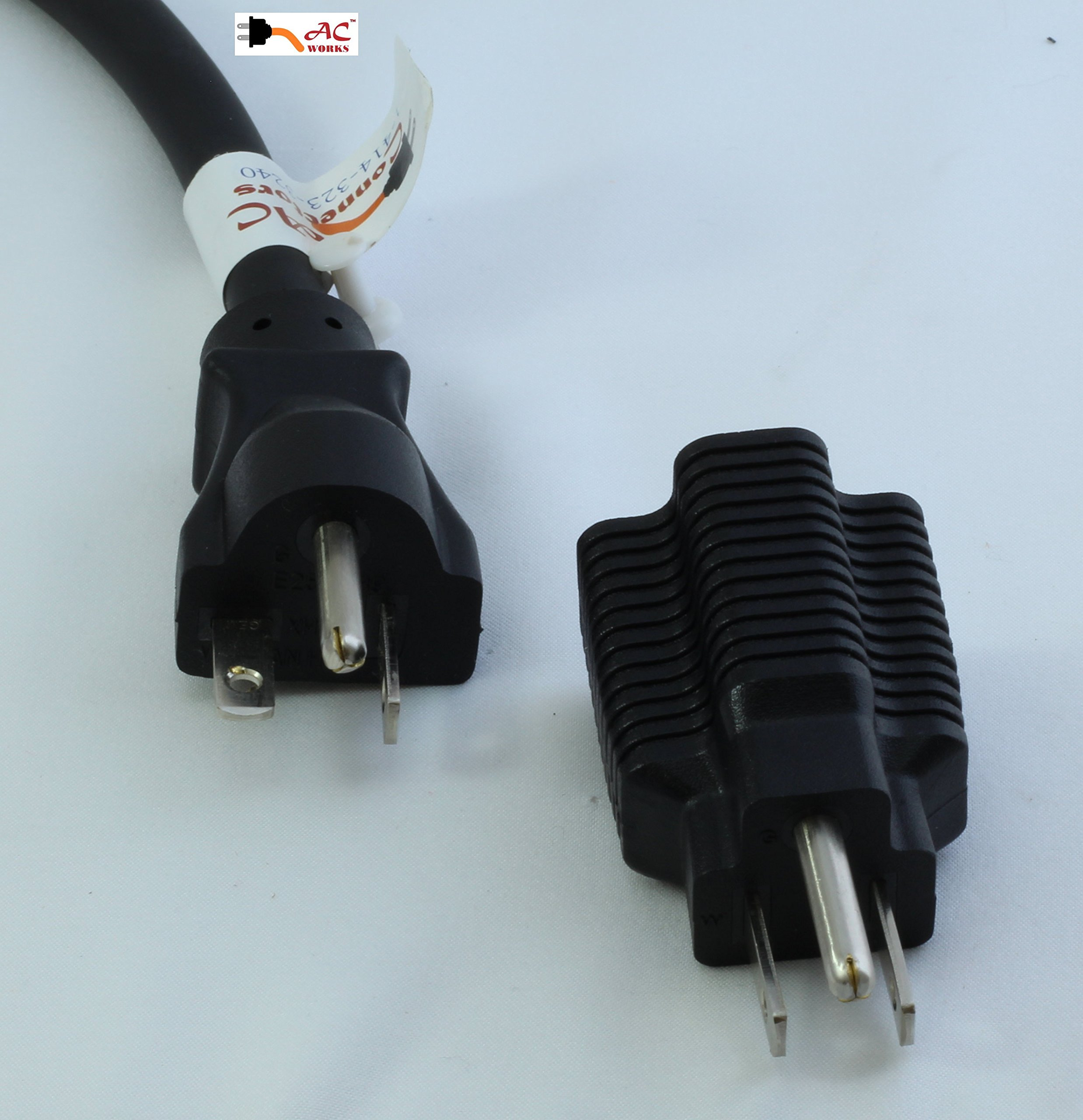 AC Connectors 15 Amp Household Plug to 20 Amp T-Blade Female Adapter ...