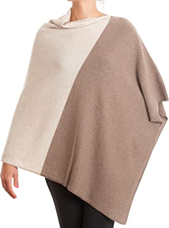Women Poncho with buttons cashmere blended yarns Dalle Piane Cashmere