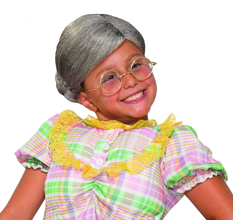 Amazon.com  Forum Novelties Child s Old Lady Wig Costume  Toys   Games 1bab27bd86