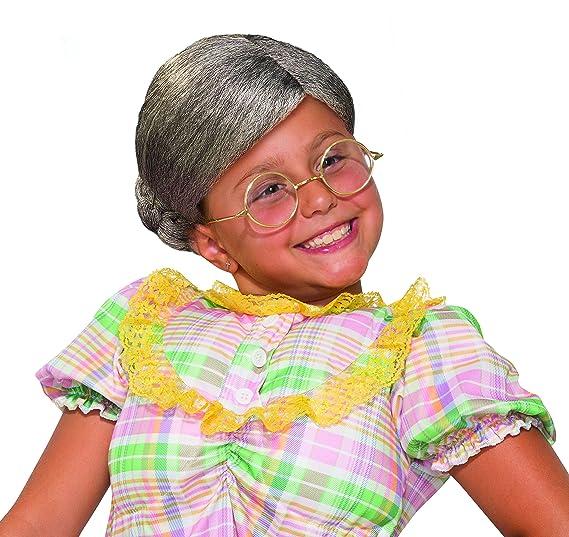 amazon com forum novelties child s old lady wig costume toys games