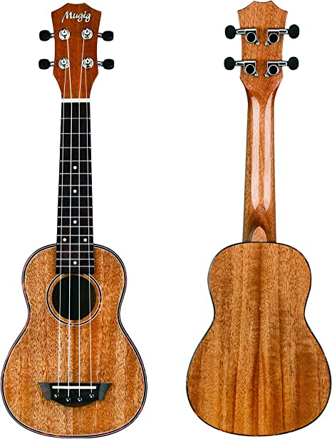 Mugig Soprano Ukulele Mahogany Body Rosewood Fingerboard Glossy ...