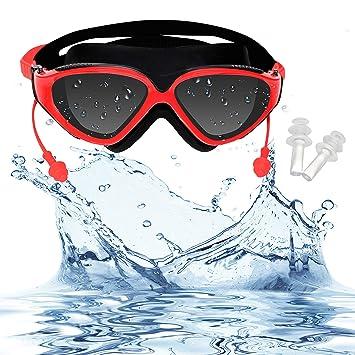 Bezzee-Pro Gafas de Natación - Gafas de Nado Antiniebla 100% Herméticas, Protección UV Triatlón con ...