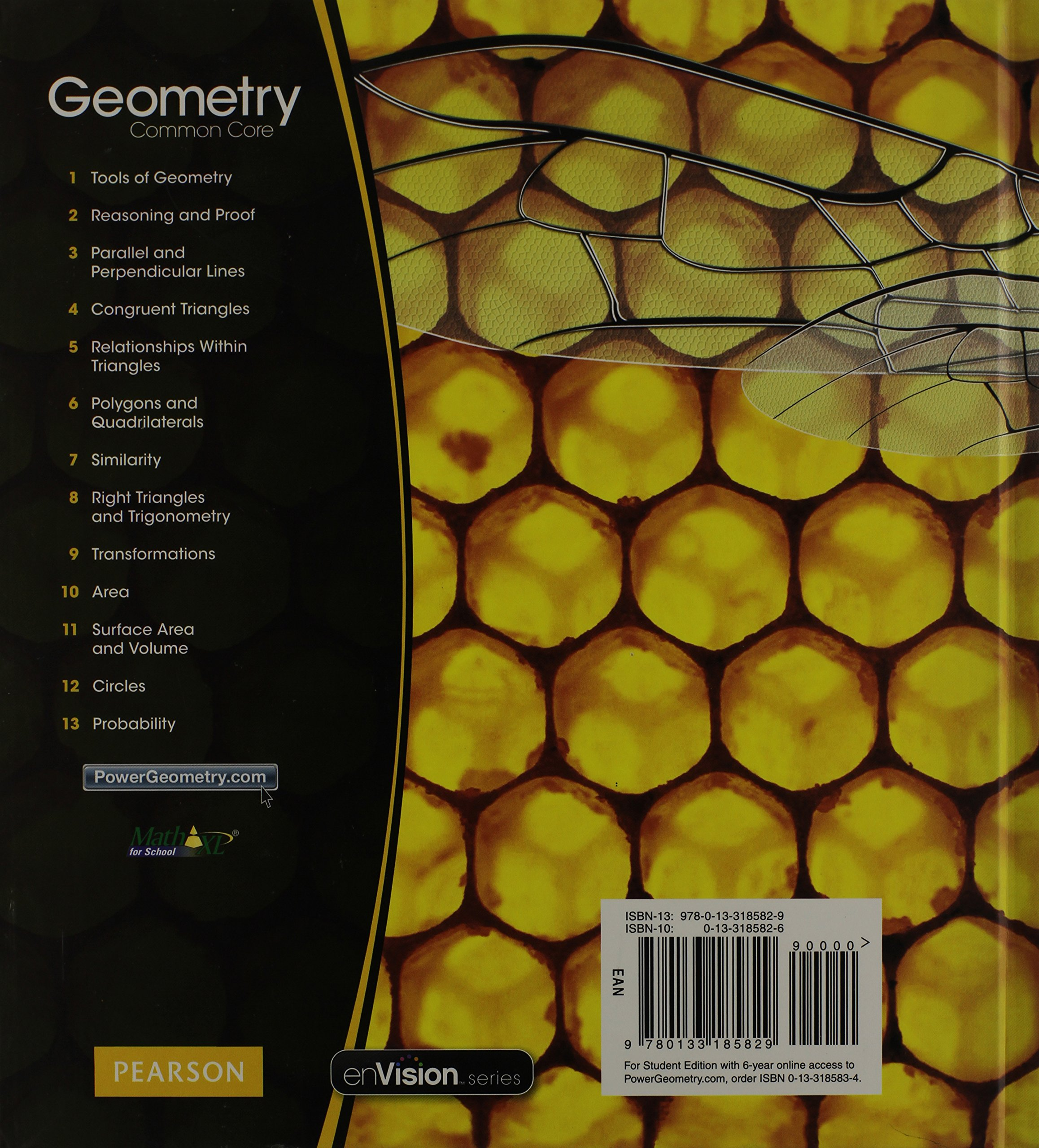Amazon com: Geometry: Common Core Grade 10 (9780133185829