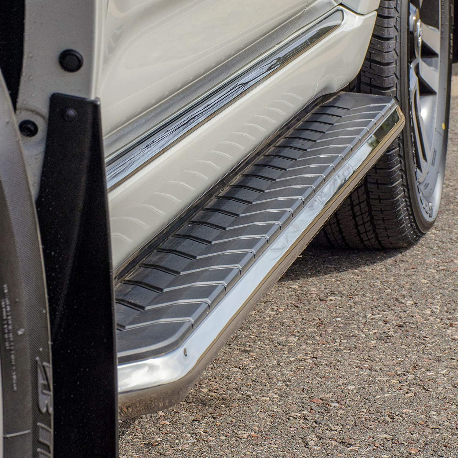 ARIES 2051010 AeroTread 70-Inch Polished Stainless Steel SUV Running Boards Select Nissan Murano