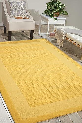Nourison Westport Yellow 605 Rectangle Area Rug