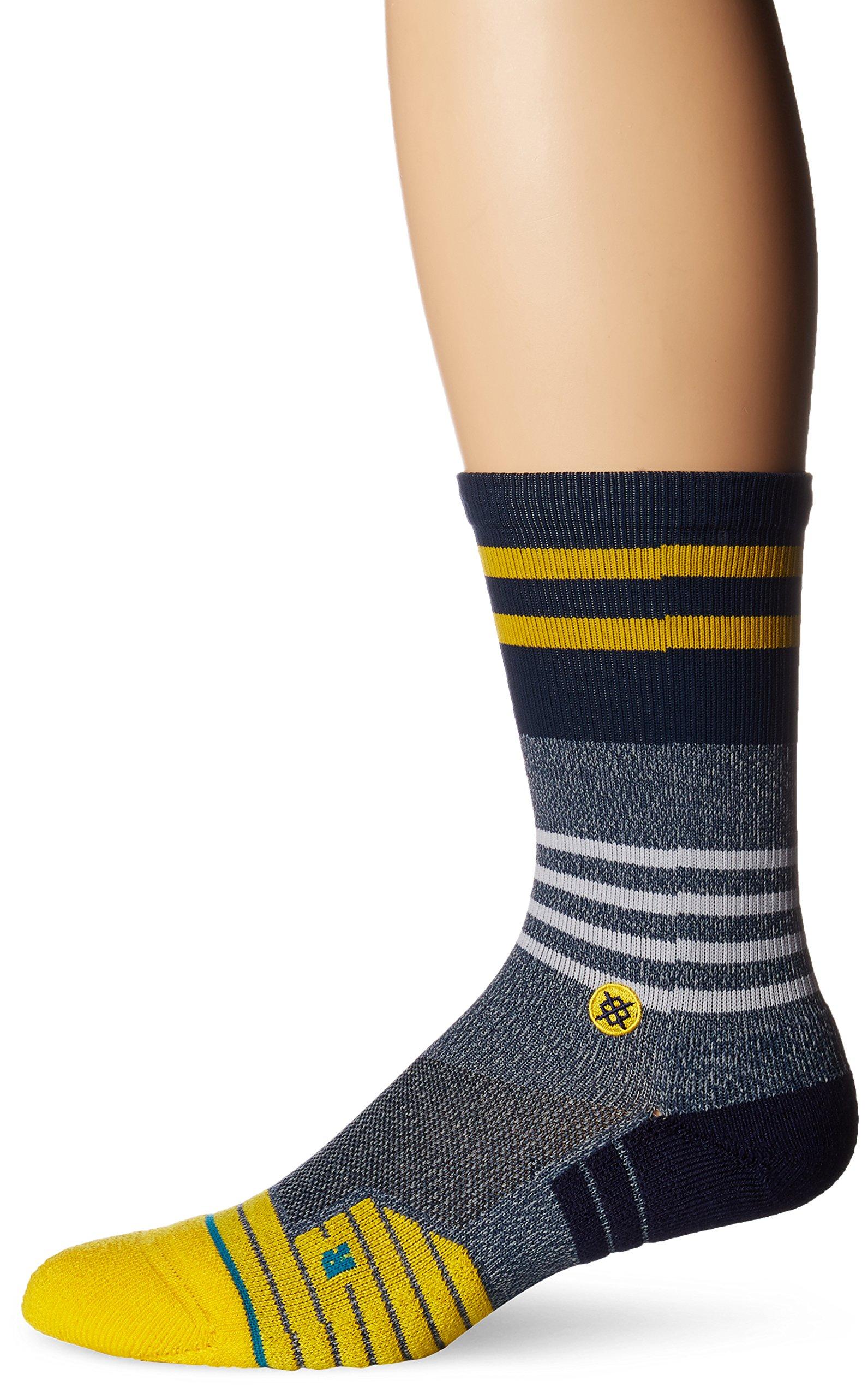 Stance Men's Lunar Crew Sock, Grey, Sock Size:10-13/Shoe Size: 6-12