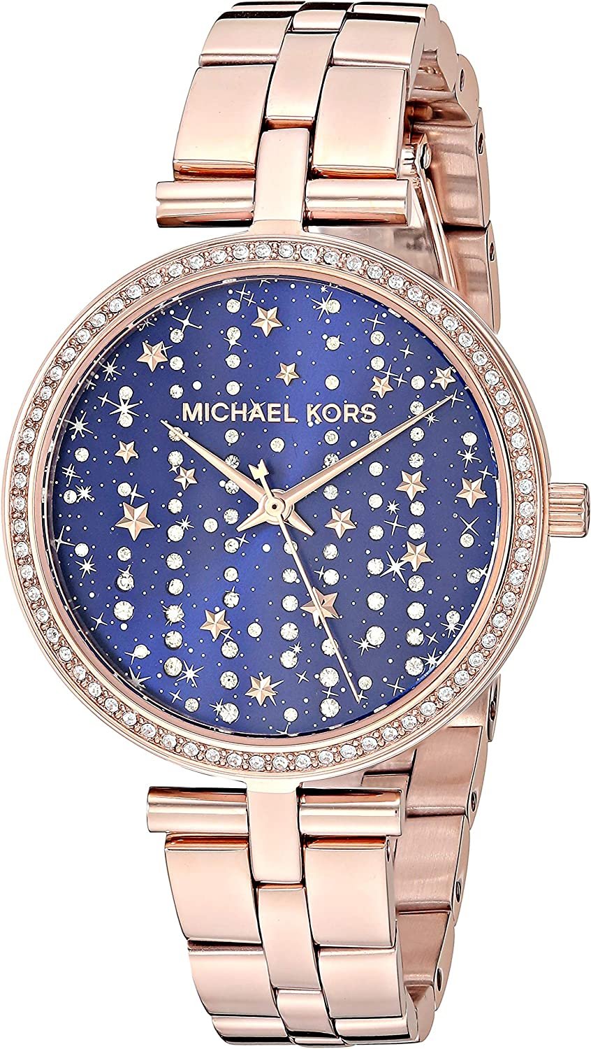 Michael Kors Women's Maci Stainless Steel Quartz Watch with Leather Strap