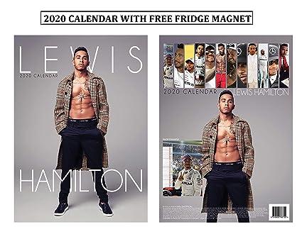 Lewis Hamilton Calendario 2020 + Imán para nevera Lewis Hamilton ...