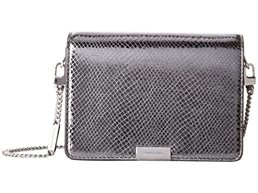 fd39861b2888 Image Unavailable. Image not available for. Color  Michael Kors Jade Medium  Gusset Snake Skin Embossed Leather Clutch ...
