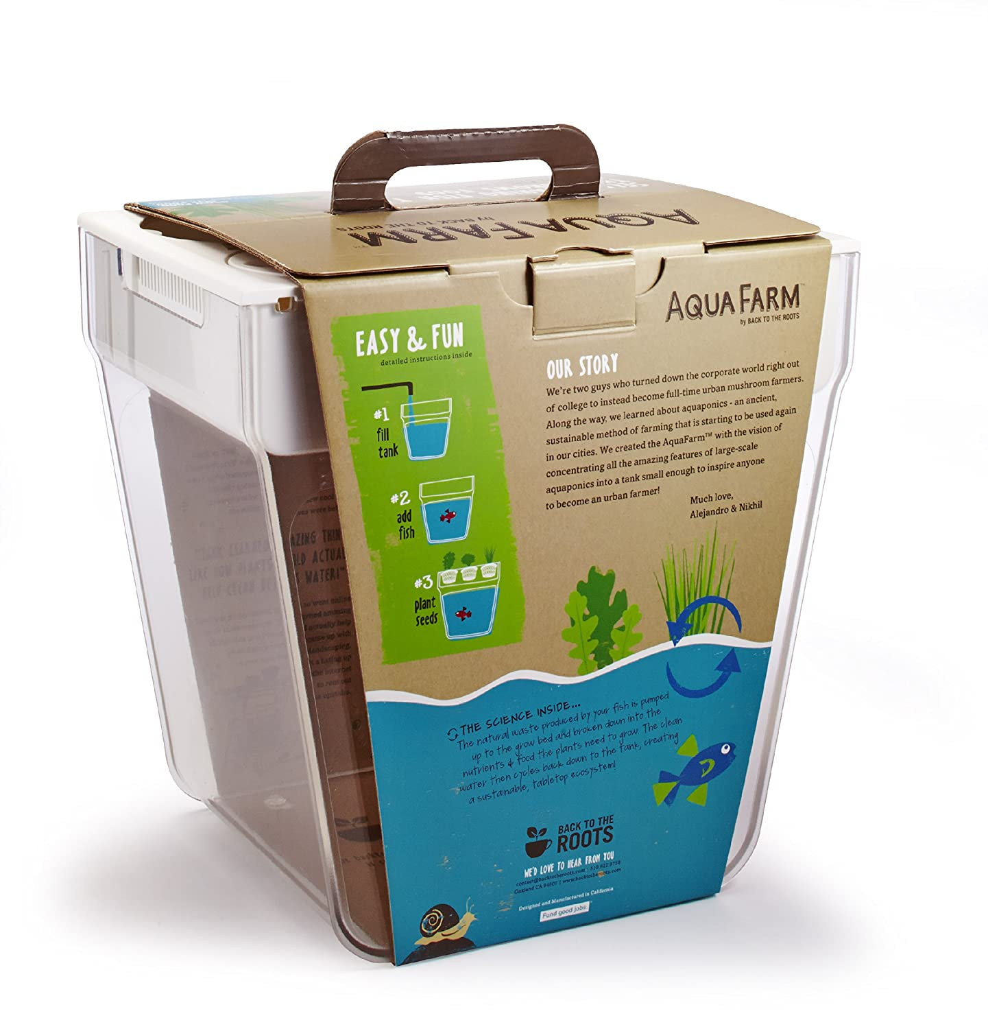 Self Cleaning Fish Tank Garden Back To The Roots Aquafarm V2 Packaging May Vary Amazonin Pet