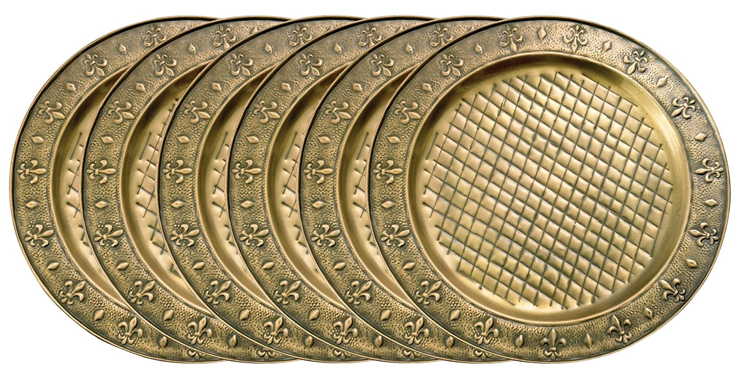 Amazon.com | Old Dutch Charger Plate 13-Inch Set of 6 Gold Plate Chargers Accent Plates  sc 1 st  Amazon.com & Amazon.com | Old Dutch Charger Plate 13-Inch Set of 6: Gold Plate ...