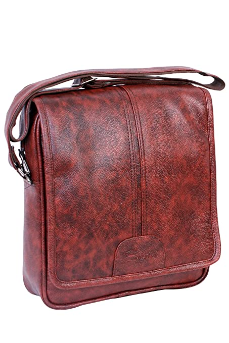 416fdd12562c Easies Cherry Red Color Synthetic Leather Trendy Large Sling Bag For Men  For Daily Use  Amazon.in  Bags