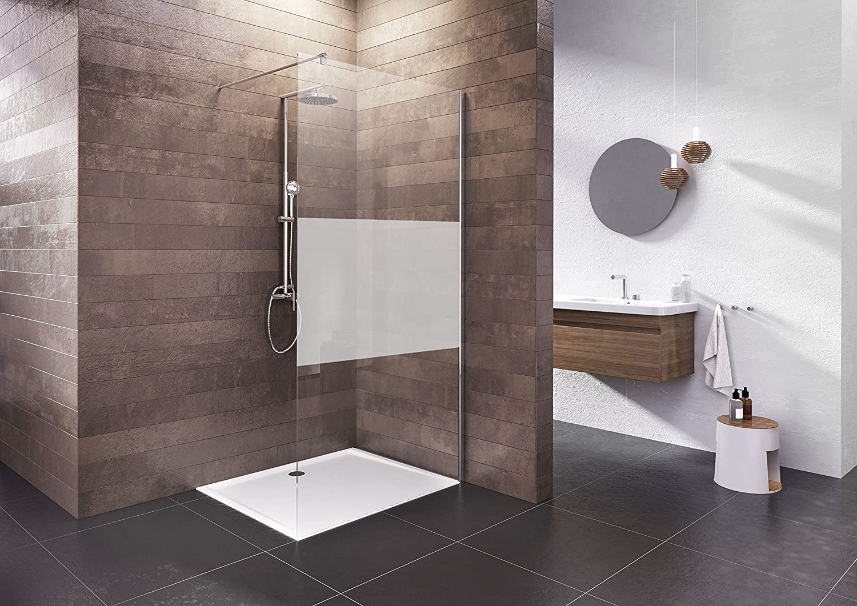 NN Mampara de ducha Walk en 120 x 200 Ducha Pared Cristal Satinado ...