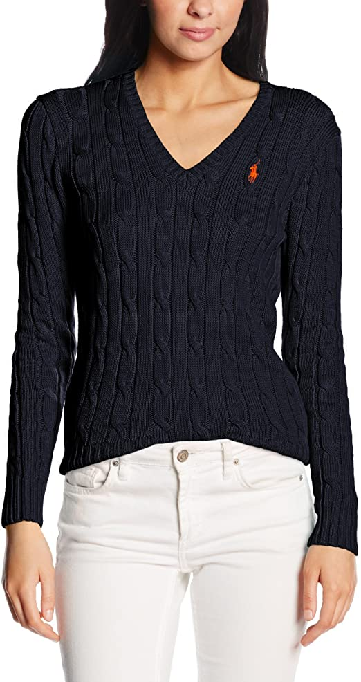 Polo Ralph Lauren Kimberly PP LS Swt Jersey para Mujer: Amazon.es ...