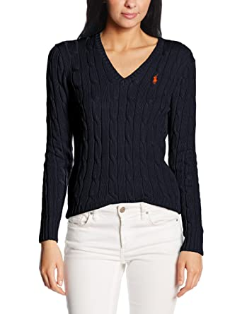 63ff592bbc84eb POLO RALPH LAUREN Women's Kimberly Pp Ls SWT Jumper: Amazon.co.uk: Clothing