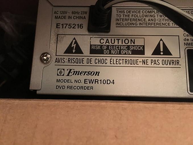 amazon com emerson ewr10d4 dvd recorder electronics rh amazon com
