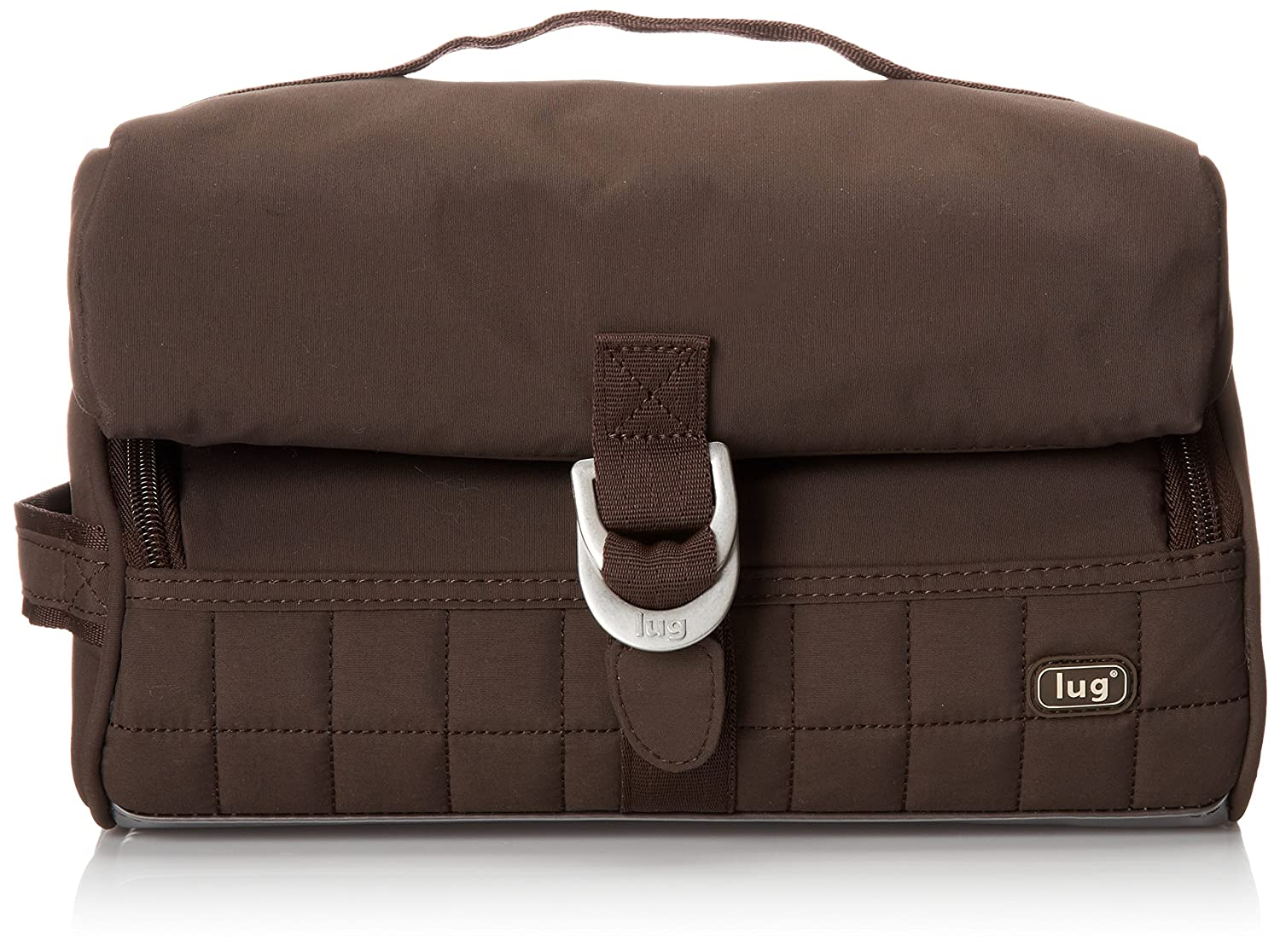 Lug-Flip-Top Toiletry Case in Chocolate Brown 880479205263