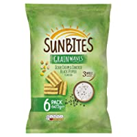 Sunbites Sour Cream and Pepper Multipack Snacks, 6 x 25 g