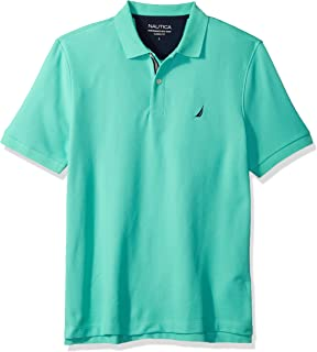 da82150f5b456 Nautica Men s Short Sleeve Performance Pique Polo with Tipping at ...