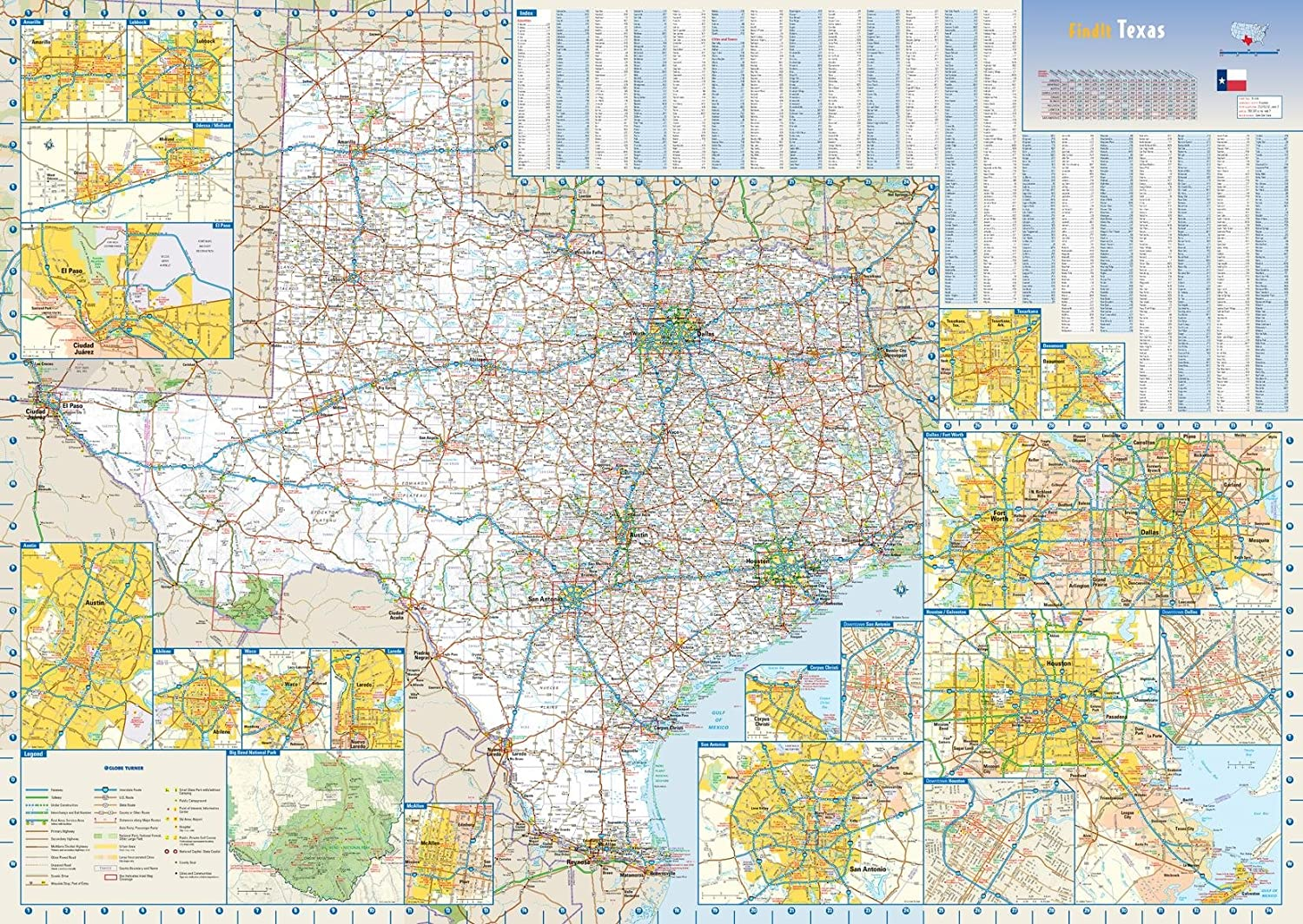 The Map Of Texas State.Amazon Com Texas State Wall Map 34 5 X 24 75 Paper Office