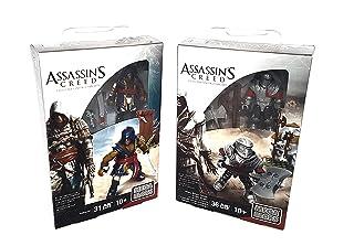 MEGA BLOKS Assassin's Creed Adewale & Templar Warrior Collectible Character Figure, 2 pack BUNDLE (67 Pieces) china