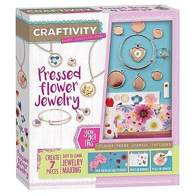 Craftivity Pressed Flower Jewelry Making Kit - Create 7 Pressed Flower Jewelry Accessories: Toys & Games