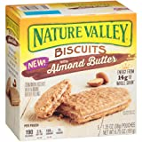 Nature Valley Biscuits, Almond Butter, Breakfast Biscuits with Nut Filling, 5 Bars - 1.4 oz