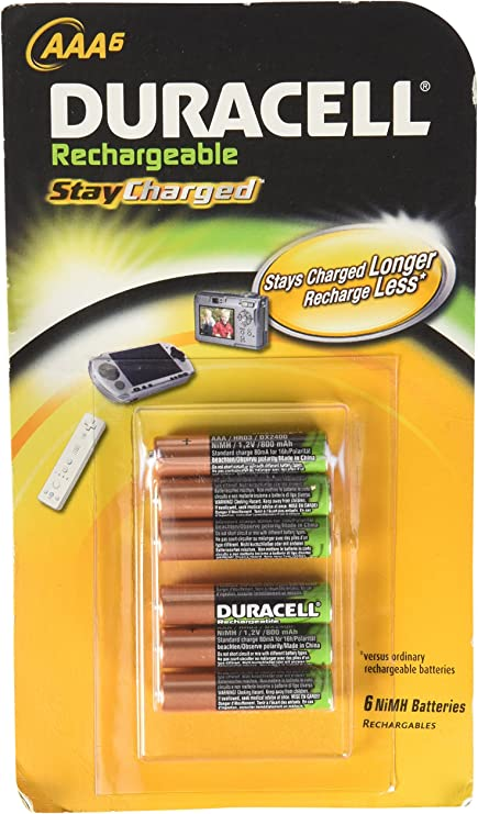 Duracell Rechargeable Aaa Staycharged 800mah Batteries Elektronik