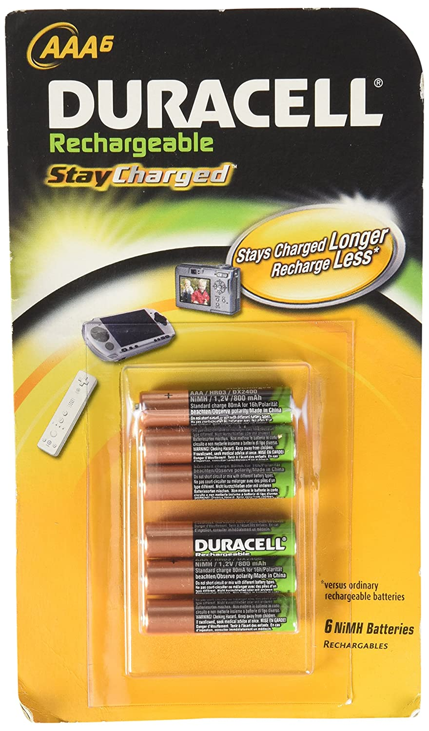 Duracell AAA Rechargeable Batteries (Pack of 6)