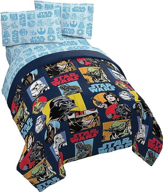Amazon Com Jay Franco Star Wars Galactic Grid 4 Piece Twin Bed