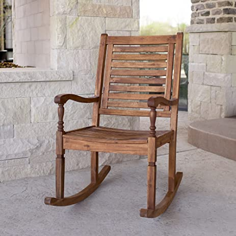 New Acacia Wood Outdoor Patio Rocking Chair