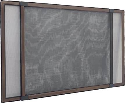 Balcony and Terrace Doors with Roller Shutter Guides 75 x 50 cm JAROLIFT Schiebfix//Easy Slide Fly Screen Frame for Windows Extendable up to 142 cm - Insect Screen