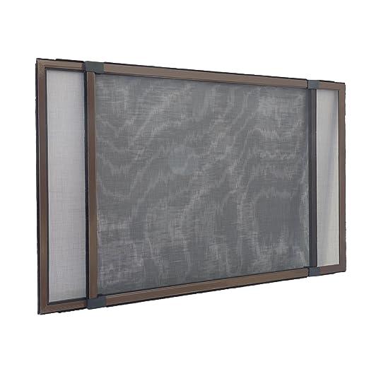 Insektenschutzrahmen Schiebfix/Fliegengitter/für Fenster, Balkontür, Terrassentür mit Rollladenführung, 75 x 50 cm (ausziehba