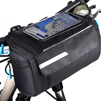 Bike Handlebar Bag Bicycle Front Cell Phone Holder Case Cycle Accessories US