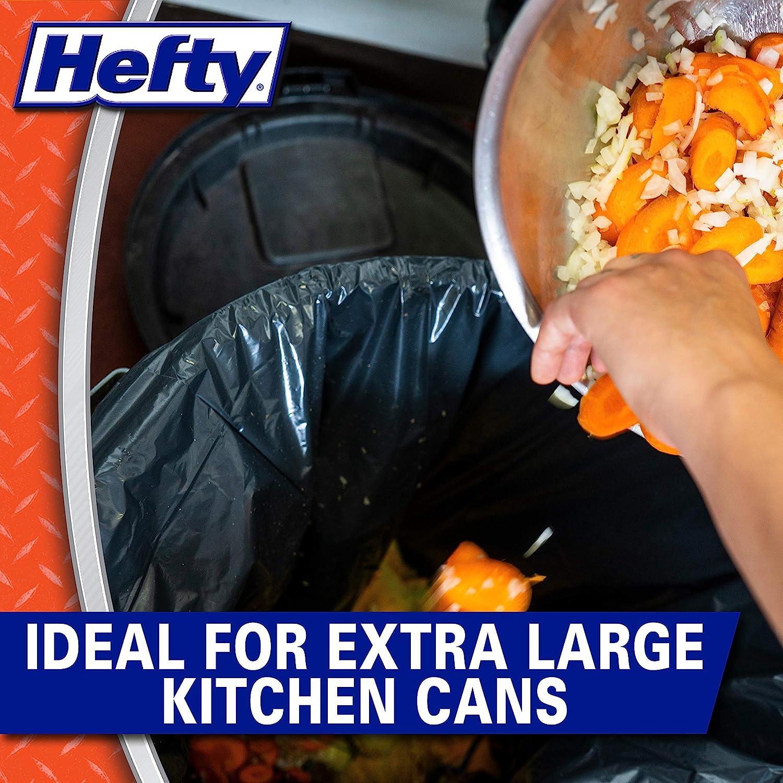 Unscented Hefty Strong Large Trash//Garbage Bags Drawstring Multipurpose