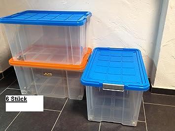Ordentlich 6 Stück Unterbettkommode Aufbewahrungsbox Stapelbox Eurobox 60 X  GB95
