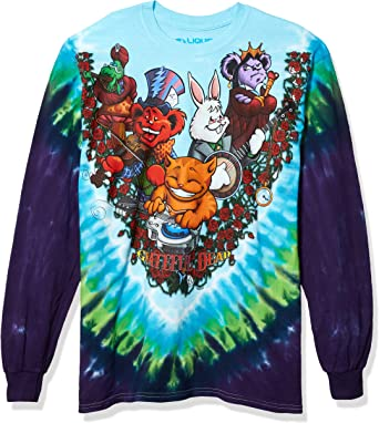 Grateful Dead-Wonderland Jamband Tie Dye Long Sleeve T-Shirt