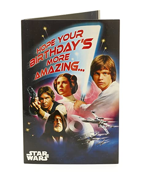 Amazon Star Wars Birthday Sound Card