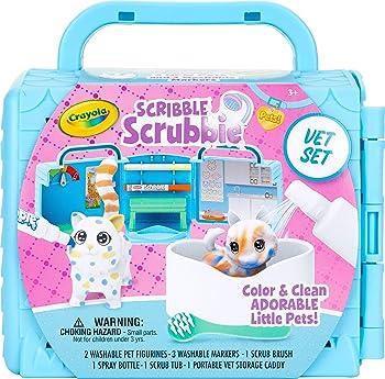 Crayola Scribble Scrubbie Pets Vet Animal Toy Set