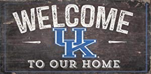"Fan Creations NCAA Kentucky Wildcats 12"" x 6"" Distressed Welcome to Our Home Wood Sign"