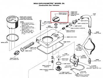 MSA Safety 42428 reostato bandera perilla tornillo Asamblea para uso con explosimeter Indicador de combustible Gas: Amazon.es: Bricolaje y herramientas