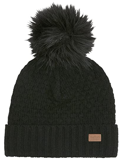 ce716eb3a0d7e Melton Little Girls Pom Pom Fur Beanie Hat at Amazon Women s ...