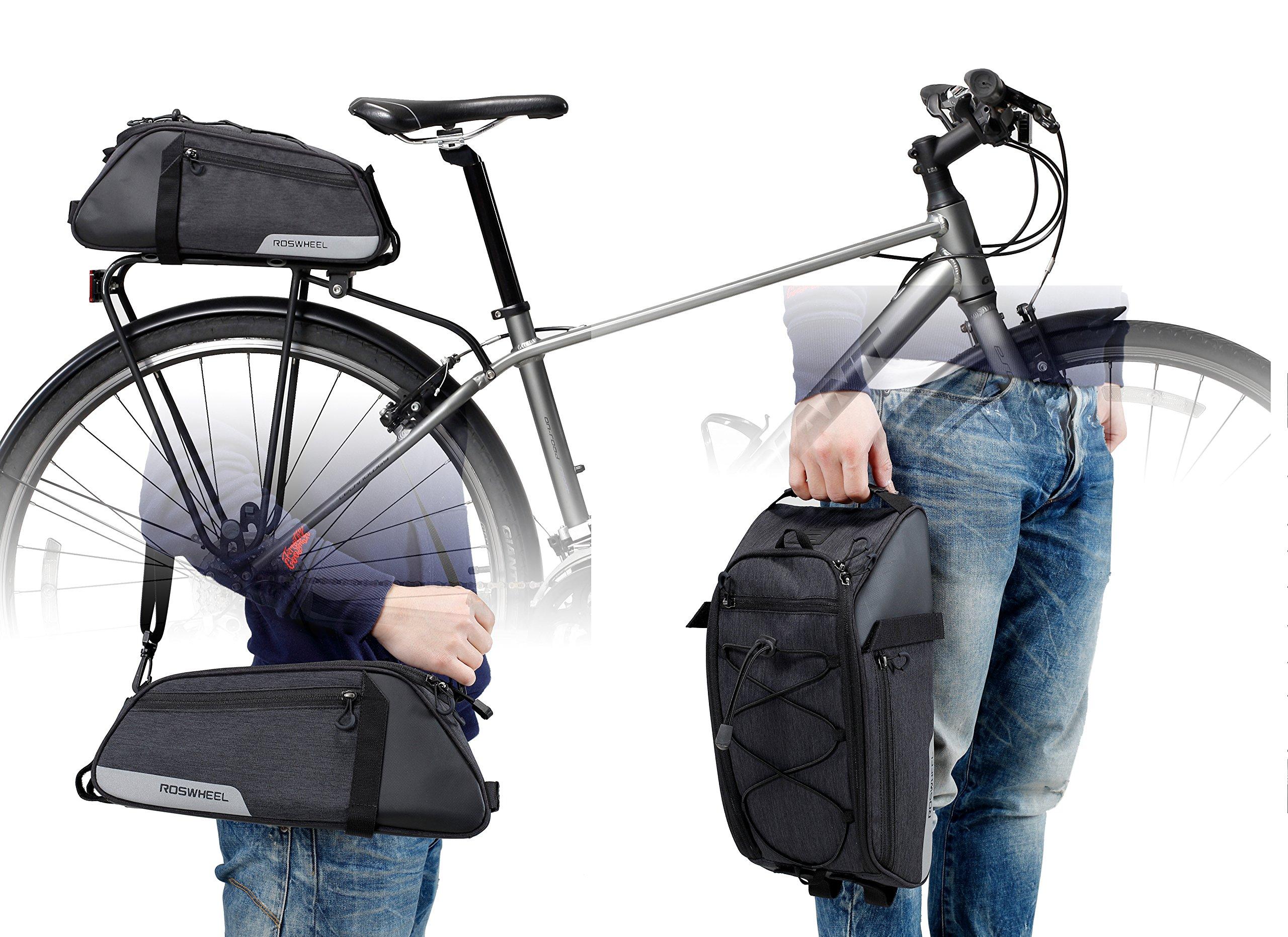 Roswheel Essentials Series 141466 Bike Trunk Bag Bicycle Rear Rack Pack Cycling Accessories Pannier, 8L Capacity by Roswheel (Image #7)