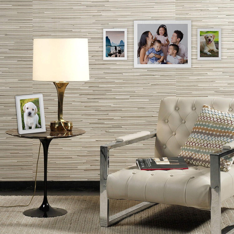 10x8 in Montura de pared o marcos de fotos independientes 3 tama/ños: 6x4 in Conjunto de 10 marcos de cuadros colgantes 7x5 in M/&W Blanco