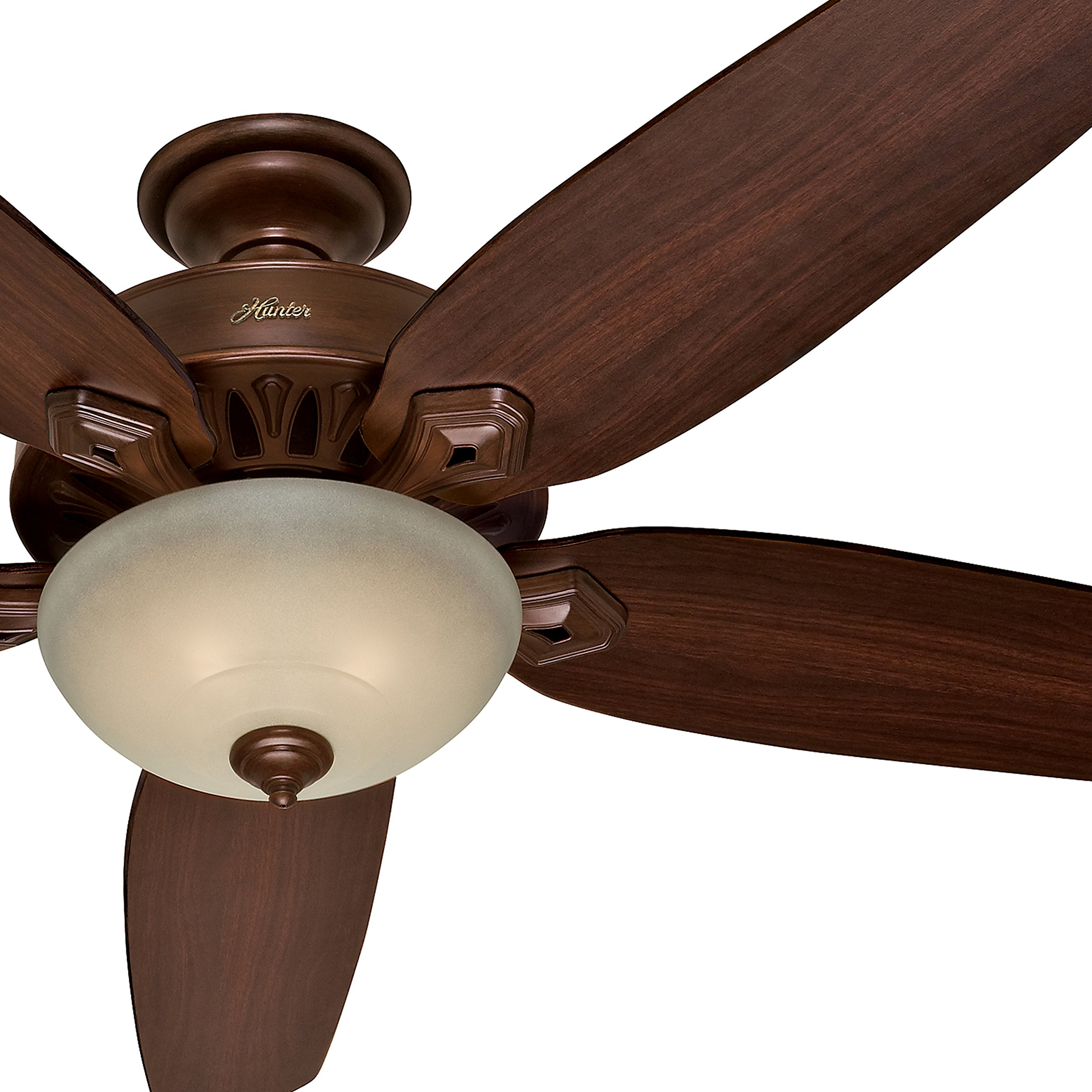 Hunter Fan 70'' Traditional Ceiling Fan in Northern Sienna with a Tea Stain Light Kit, 5 Blade (Certified Refurbished)