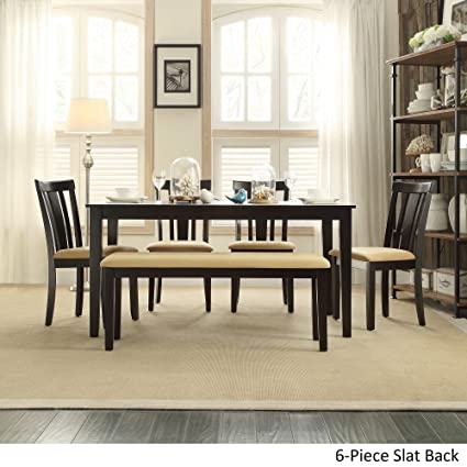Pleasing Amazon Com Inspire Q Wilmington Black Dining Set By Pdpeps Interior Chair Design Pdpepsorg