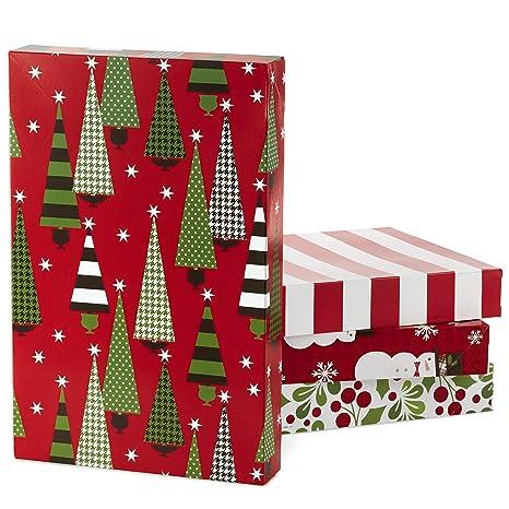 Amazon.com: Hallmark - Caja de regalo de Navidad, diseño de ...