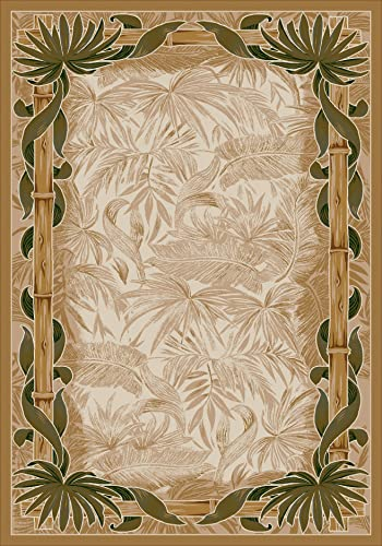 Milliken TOP 30 Montego Area Rug Linen 5 4 x7 8 Rectangle Nylon Beige